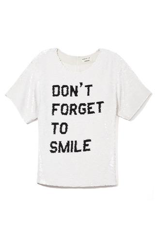 Medium ashish black dont forget to smile tee