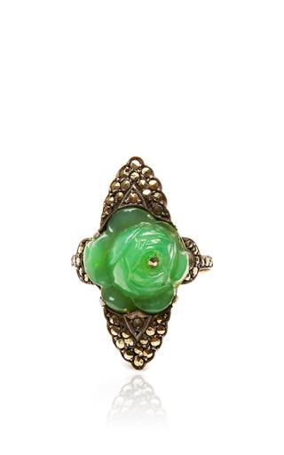 Medium carole tanenbaum green jade rose ring