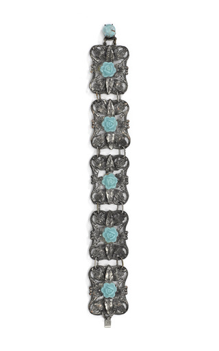 Open Work Pot Metal Flower Bracelet by CAROLE TANENBAUM for Preorder on Moda Operandi
