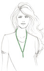 Long Mini Lariat Chiclet Necklace by CAROLE TANENBAUM for Preorder on Moda Operandi