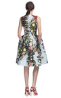 Rose Painting Jacquard Sleeveless Party Dress by CAROLINA HERRERA for Preorder on Moda Operandi