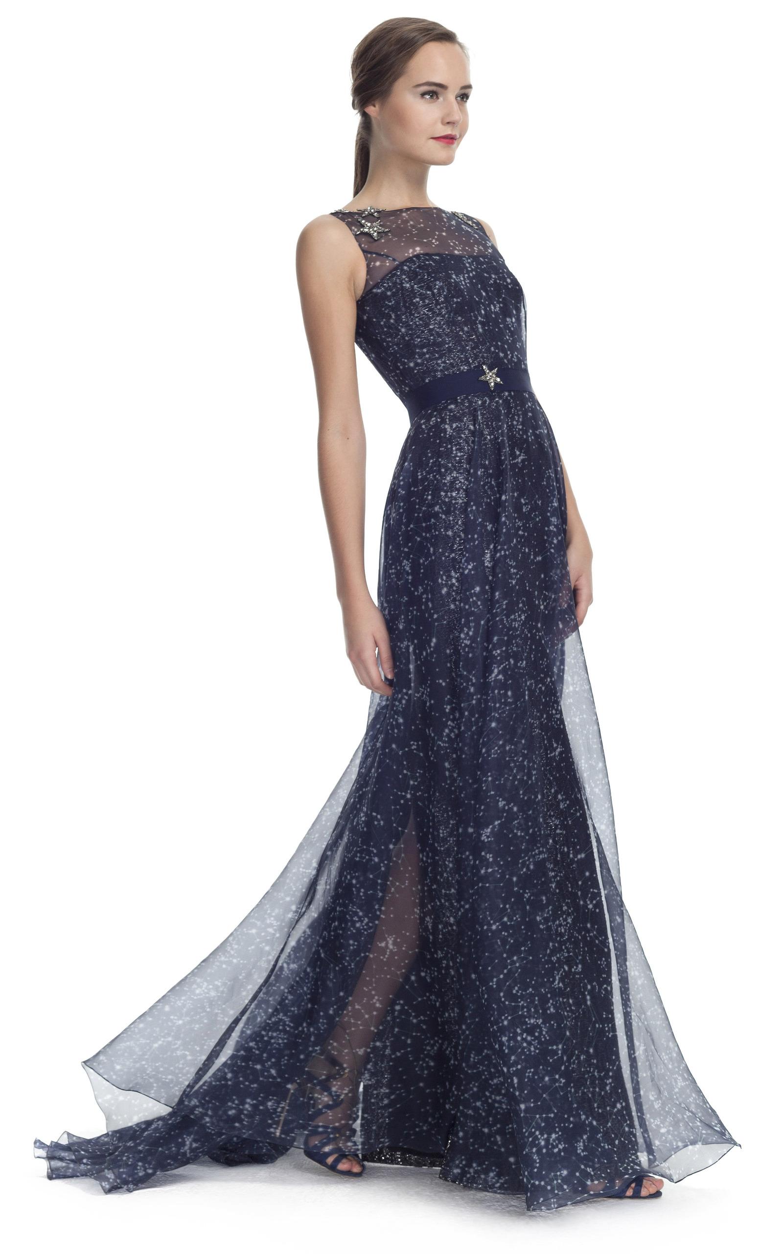 d86b085eeb469 Carolina HerreraConstellation Organza Sleeveless Gown. CLOSE. Loading