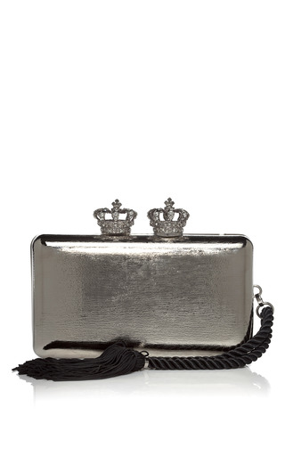 Medium serpui marie silver silver empire metallic minaudiere