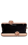 Rose Gold Empire Metallic Minaudiere by SERPUI MARIE for Preorder on Moda Operandi