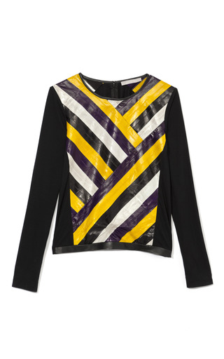 Medium jason wu purple combo long sleeve tee shirt