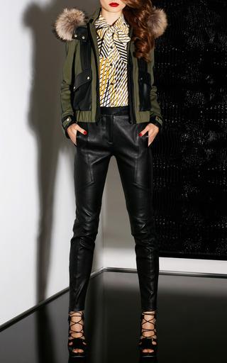 Combo Hooded Fox Trim Jacket by JASON WU for Preorder on Moda Operandi