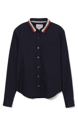 Striped Collar Shirt by SEA for Preorder on Moda Operandi