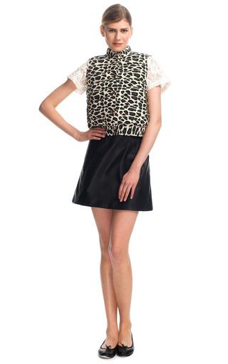 Leopard Silk Puffer Vest by SEA for Preorder on Moda Operandi