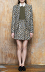 Silk Combo Button Up In Military by SEA for Preorder on Moda Operandi
