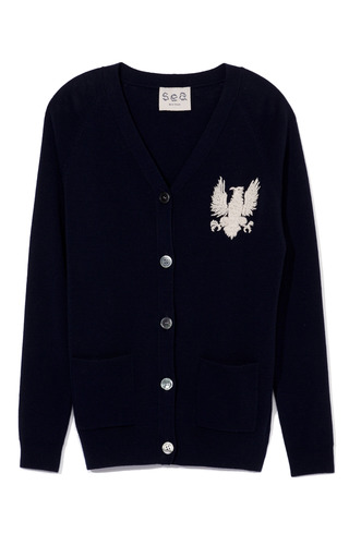Medium sea navy gryphon cardigan