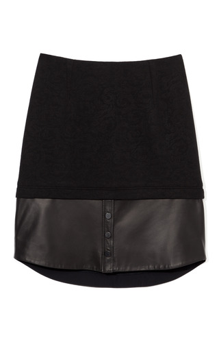 Embossed Floral Jacquard Skirt by YIGAL AZROUëL for Preorder on Moda Operandi
