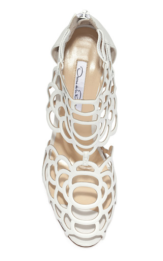 White Gladia Bootie by OSCAR DE LA RENTA Now Available on Moda Operandi