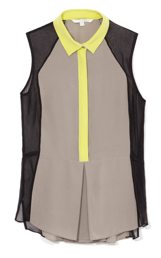 Medium jonathan simkhai black color blocked sleeveless blouse