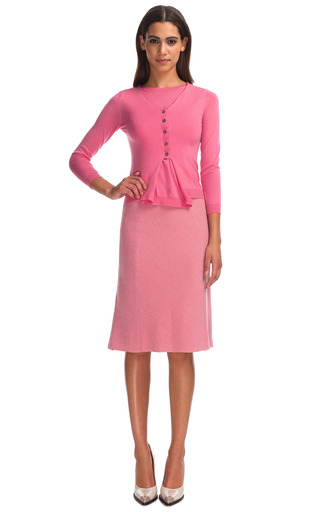 Pink Wool Stretch Skirt by NINA RICCI for Preorder on Moda Operandi