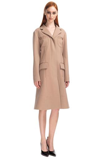 Medium nina ricci brown punto milano coat