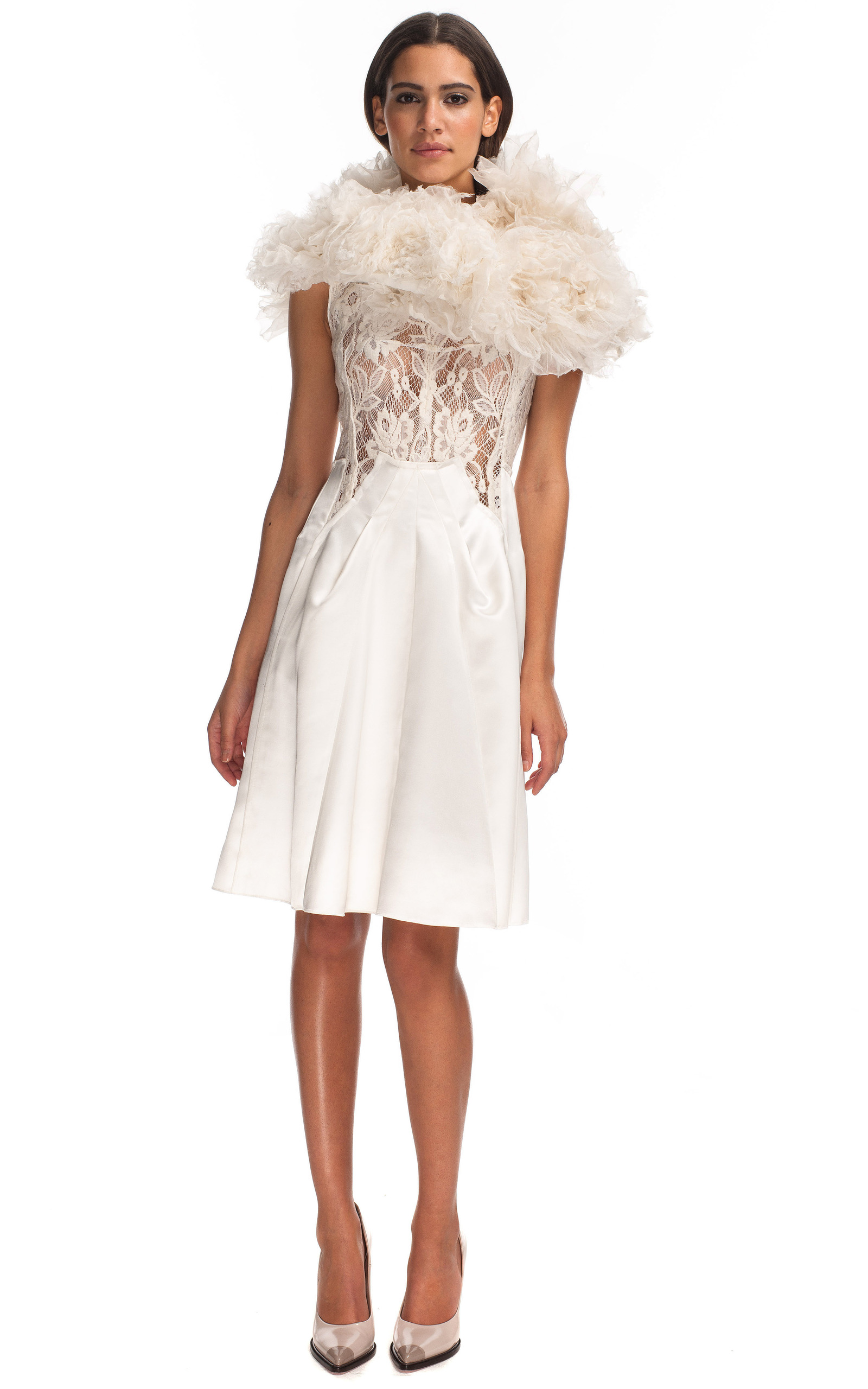 White Satin Cocktail Dress