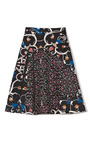 Vine Print Stretch Cotton Skirt by PETER SOM Now Available on Moda Operandi