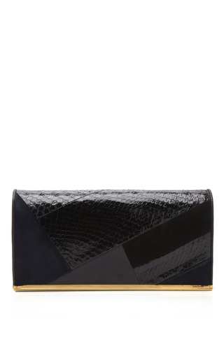 Medium nina ricci black black correspondence clutch