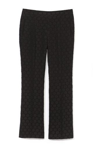 Medium rochas black polka dot silk jacquard pants