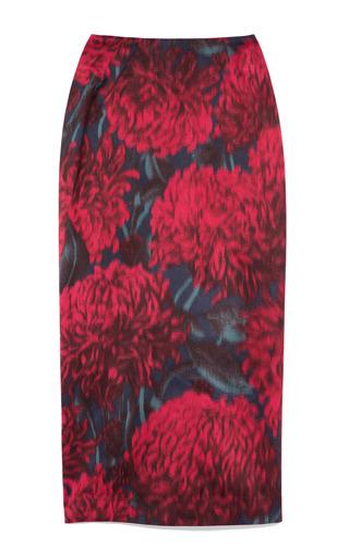 Medium rochas multi printed chine pencil skirt