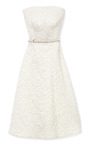 Strapless Dress In Flower Brocade by ROCHAS Now Available on Moda Operandi