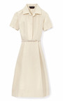 Faille Shirtdress With Belt by ROCHAS Now Available on Moda Operandi