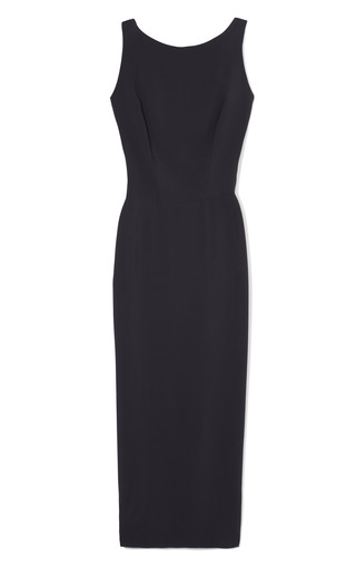 Medium rochas blue sleeveless cady sheath dress