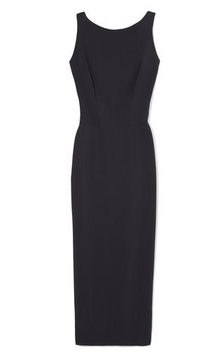 Medium rochas blue sleeveless cady sheath dress
