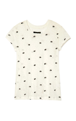 Medium rag bone white the basic brando camera print tee