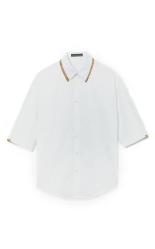 Medium palmer harding white classic mens shirt with three quarter length sleeves