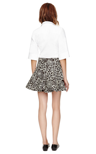 White Shirt With Three Quarter Length Sleeves by PALMER HARDING Now Available on Moda Operandi