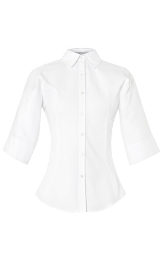 Medium palmer harding white white shirt with three quarter length sleeves
