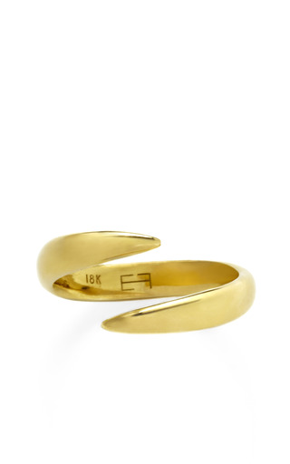 Medium eva fehren gold wrap claw pinky ring