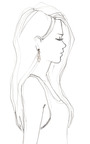 Diamond Spear Earrings by EVA FEHREN for Preorder on Moda Operandi