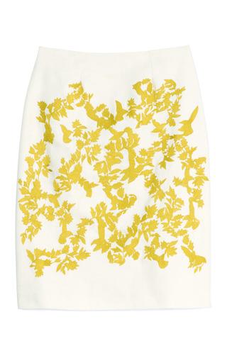 Medium thakoon white embroidered a line skirt 2
