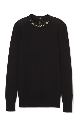 Medium giles black black viscose knit with barrel stud embellishments