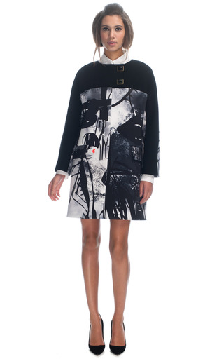 Medium giles multi neoprene atom age graffiti coat