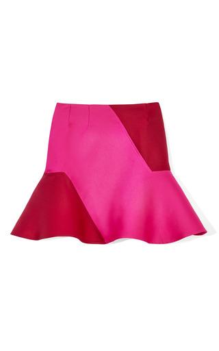 Medium ostwald helgason red double faced jacquard skirt