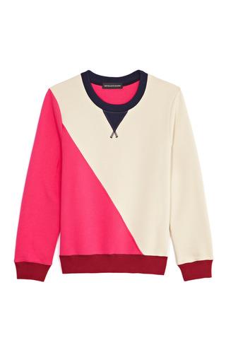Medium ostwald helgason tan color blocked sweatshirt