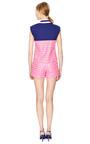 Pink White Flowers Shorts by OSTWALD HELGASON Now Available on Moda Operandi