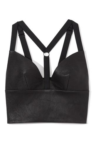 Medium cushnie et ochs black leather bra top