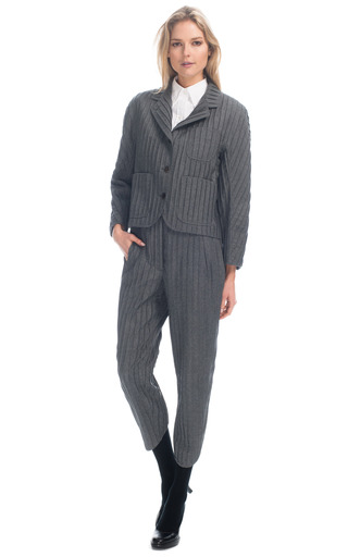 Medium thom browne dark grey round shoulder sack jacket