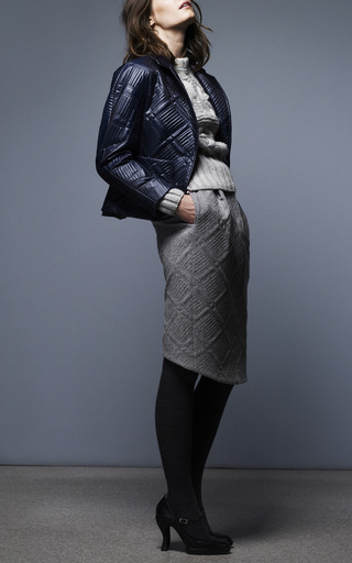 Round Shoulder Sack Jacket by THOM BROWNE for Preorder on Moda Operandi