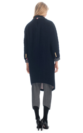Round Shoulder Sack Overcoat by THOM BROWNE for Preorder on Moda Operandi