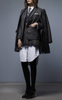 Pleated Mini Skirt by THOM BROWNE for Preorder on Moda Operandi