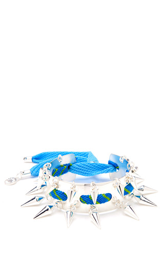 Gaby Silver Plated Charm Cuff by CAROLINE BAGGI Now Available on Moda Operandi
