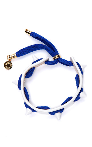 Punky Leather, Shoelace, And Studded Bracelet by CAROLINE BAGGI Now Available on Moda Operandi