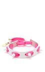 Punky Leather, Shoelace, And Studded Bracelet by CAROLINE BAGGI Now Available on Moda Operandi