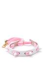 Studded Punky Leather & Shoelace Bracelet by CAROLINE BAGGI Now Available on Moda Operandi