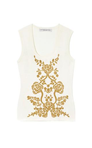 Medium carolina herrera ivory ivory shell with gold embriodery